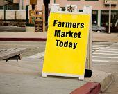 Farmers Market Sign - Sandwich Board