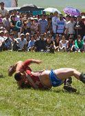 Mongolian Wrestler Wins