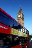 Big Ben con doble decker, Londres, Reino Unido