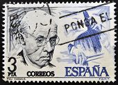 SPAIN - CIRCA 1966: A stamp printed in Spain shows Pau Casals circa 1966