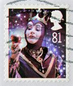 UNITED KINGDOM - CIRCA 2008: A christmas stamp printed in Great Britain shows The Wicked Queen from