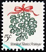 Vereinigte Staaten von Amerika ca. 1964: eine Weihnachts-Briefmarke gedruckt in den Usa zeigt Mistel Circ