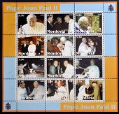 MORDOVIA - CIRCA 2003: Collection stamps printed in Mordovia shows Pope John Paul II circa 2003