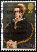 UNITED KINGDOM - CIRCA 1997: A stamp printed in Great Britain shows Catherine Howard wife of Henry V