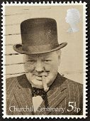 UNITED KINGDOM - CIRCA 1974: A stamp printed in Great Britain showing Sir Winston Churchill circa 19