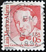 UNITED STATES OF AMERICA - CIRCA 1990: A stamp printed in USA shows Luis Mu�oz Marin Governor Puer