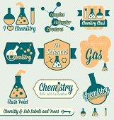 Vintage Chemistry Class Labels and Icons