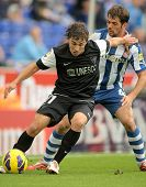 BARCELONA - OCT, 27: Sebastian Fernandez of Malaga CF during a Spanish League match between Espanyol