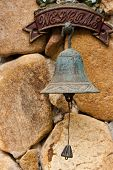 Closeup Of Antique Rusty Bell