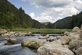 pic of spearfishing  - Trout stream and pond in Spearfish Canyon Black Hills of South Dakota - JPG