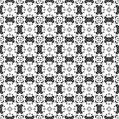 Black & White Ornate Background