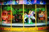 Carousel In Themepark