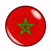 Button Flag Of Morocco