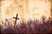 Lonely Cross Tilted Autumn