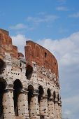The Coliseum amphitheatre in Rome Italy