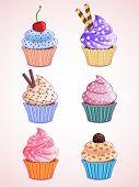 cupcakes cute Vector