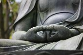 Japan Tokyo Senso-ji Buddha hands close-up