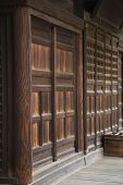 Wood Walls and Doors at Achi-jinja Shrine