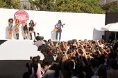 LOS ANGELES - AUG 9:  Leigh-Anne Pinnock, Jade Thirwall, Perrie Edwards, Jesy Nelson, Little Mix at the Teen Vogue's Back-To-School Event at the The Grove on August 9, 2013 in Los Angeles, CA