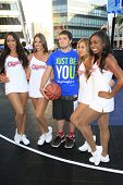 LOS ANGELES - AUG 9:  Josh Hutcherson, Clippers Girls at the Josh Hutcherson Celebrity Basketball Ga