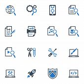 SEO & Internet Marketing Icons Set 1- Blue Series