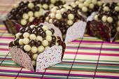 stock photo of brazilian food  - A Crispy Brigadeiro - JPG