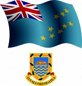 Tuvalu Wavy Flag And Coat