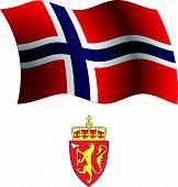 Svalbard Wavy Flag And Coat