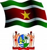 Suriname Wavy Flag And Coat