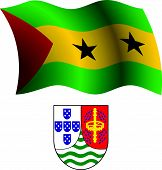 Sao Tome And Principe Wavy Flag And Coat