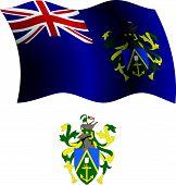 Pitcairn Islands Wavy Flag And Coat