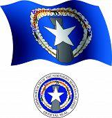 Northern Mariana Island Wavy Flag And Coat