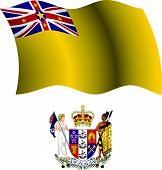 Niue Wavy Flag And Coat