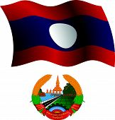 Laos Wavy Flag And Coat