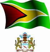 Guyana Wavy Flag And Coat