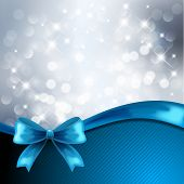 Holiday gift cards with blue ribbon