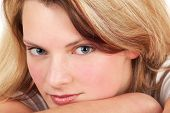 Close-up Portrait Of Blonde Girl