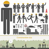 Construction vector set (builders & tools)