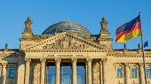 Facade of the Reichstag building in Berlin, Germany