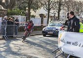 The Cyclist Mathias Frank- Paris Nice 2013 Prologue In Houilles