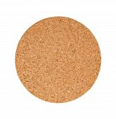 Circular Cork Trivet Isolated