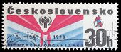 CZECHOSLOVAKIA - CIRCA 1979 a stamp from Czechoslovakia shows image commemorating the 30th anniversary of the Pioneer movement for children in Czechoslovakia, circa 1979