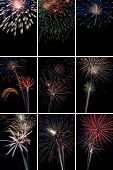 Vertical Fireworks Collage