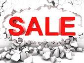 Destructive sale destroy the wall