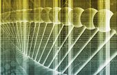 DNA Background with a Science Helix Strand