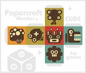 Paper cube for children games and decoration.