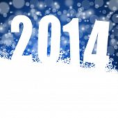 2014 New Year Illustration mit Schneeflocken