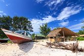 Abandoned Fishing Boat On A Beach
