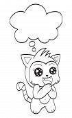 Cute cat with speech bubble