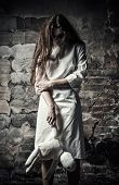 stock photo of gothic female  - Horror style shot - JPG